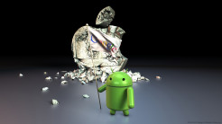 android breaking apple wallpaper