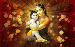Jashoda With Little Krishna