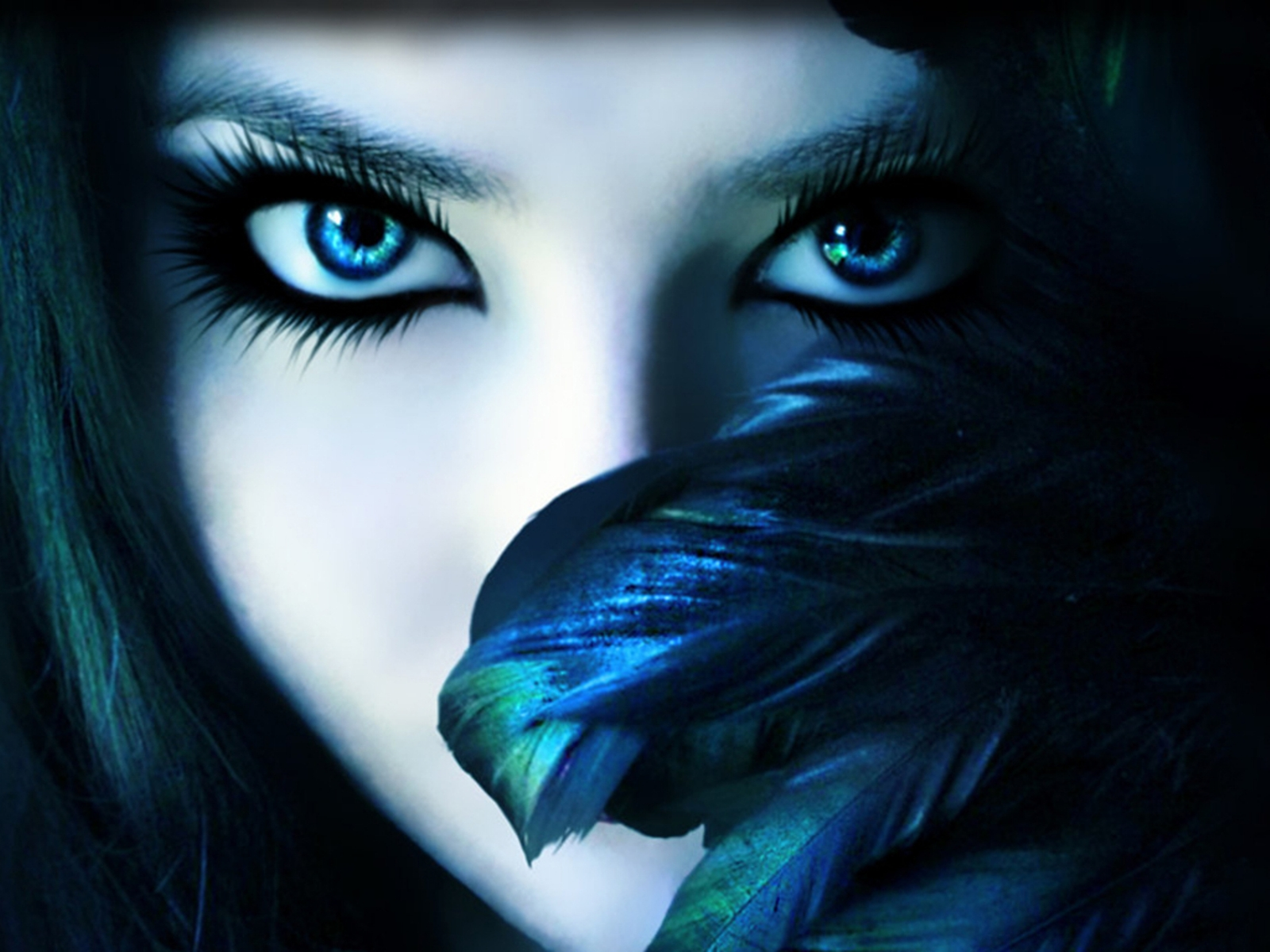 Beauty Wallpaper  Dark shinig eye shadow girl at Latest Wall